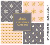 gold pink festive seamless...   Shutterstock .eps vector #526866574