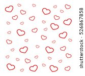 hearts background vector... | Shutterstock .eps vector #526867858
