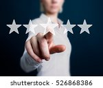 business key rating increase... | Shutterstock . vector #526868386