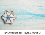 star shape cookie and place for ... | Shutterstock . vector #526870450