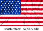 closeup of american usa fabric... | Shutterstock . vector #526872430