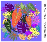 vector graphical tropical... | Shutterstock .eps vector #526874740