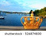 golden crown on a... | Shutterstock . vector #526874830