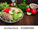 healthy salad bowl with quinoa  ... | Shutterstock . vector #526880080