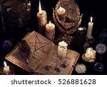 mystic still life with evil...   Shutterstock . vector #526881628