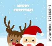 christmas card santa and... | Shutterstock .eps vector #526883548