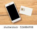 smartphone with blank screen...   Shutterstock . vector #526886908
