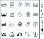 set of 20 universal editable... | Shutterstock .eps vector #526890100