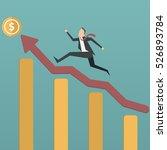 successful businessman climbing ... | Shutterstock .eps vector #526893784