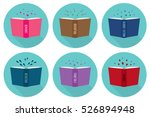 set of fiction genre icons... | Shutterstock .eps vector #526894948