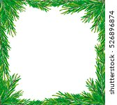 christmas card frame without... | Shutterstock .eps vector #526896874