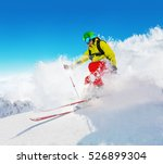 Freeride Skier With Rucksack...