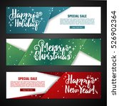 set template design merry... | Shutterstock .eps vector #526902364