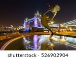 Tower Bridge At Night With...