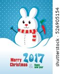 christmas greeting card. happy... | Shutterstock .eps vector #526905154