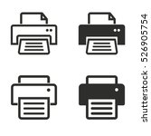 printer vector icons set....