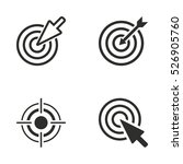 target vector icons set.... | Shutterstock .eps vector #526905760