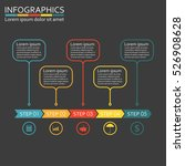 infographics template with 5... | Shutterstock . vector #526908628