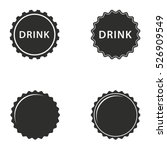 bottle cap vector icons set.... | Shutterstock .eps vector #526909549