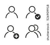 account vector icons set.... | Shutterstock .eps vector #526909918