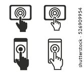 digital interaction vector...