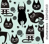 Seamless Pattern With Funny...