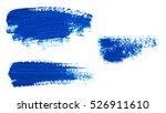brush strokes of blue paint... | Shutterstock . vector #526911610
