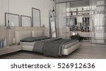 classic minimal bedroom with... | Shutterstock . vector #526912636