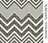 seamless zigzag pattern.... | Shutterstock .eps vector #526919878