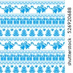 new year's christmas pattern... | Shutterstock .eps vector #526920688