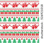 new year's christmas pattern... | Shutterstock .eps vector #526921018