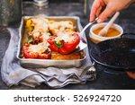 stuffed bell peppers. oven...   Shutterstock . vector #526924720