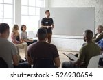 white board networking seminar... | Shutterstock . vector #526930654