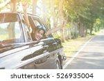 outdoor portrait of beautiful... | Shutterstock . vector #526935004
