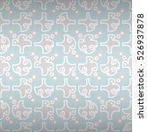 light white decorative seamless ... | Shutterstock .eps vector #526937878
