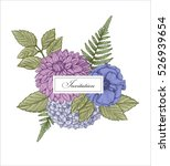vector vintage card. wedding... | Shutterstock .eps vector #526939654