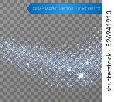cyan glitter star dust trail... | Shutterstock .eps vector #526941913