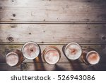 glasses of beer on an old... | Shutterstock . vector #526943086