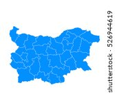 blue map of bulgaria | Shutterstock .eps vector #526944619