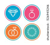 rings icons. jewelry with shine ... | Shutterstock .eps vector #526945246