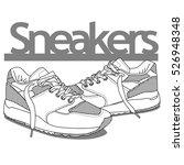 sneakers street style element... | Shutterstock .eps vector #526948348