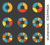 circular diagram set. pie chart ... | Shutterstock . vector #526949626