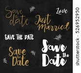 save the date logos. wedding... | Shutterstock .eps vector #526952950