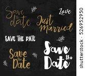 save the date logos. wedding... | Shutterstock .eps vector #526952950