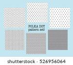 polka dot fabric sample.... | Shutterstock .eps vector #526956064