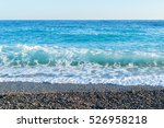 sea waves breaking on a stony... | Shutterstock . vector #526958218