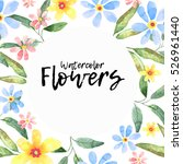 floral greeting card ... | Shutterstock . vector #526961440