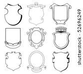 heraldic set | Shutterstock .eps vector #52696249