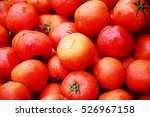 Group Of Ripe Fresh Red...
