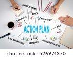 action plan concept. the... | Shutterstock . vector #526974370